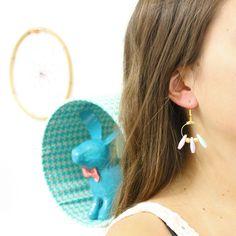 [ TUTO DIY ] Boucles d'oreilles créoles gouttes pastels >>> http://www.perlesandco.com/Boucles_d_oreilles_creoles_gouttes_pastels-s-2312-37.html