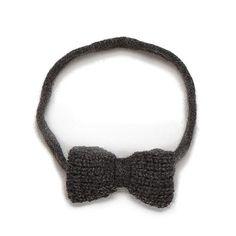 Knit wool...Fair Trade...Bow headband via oeuf.com