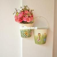 Wholesale Wall Mounted Planter Hanging Planter Basket Pure Garden Bucket Tin Box Lpots Flower Holder Cont Wall Mounted Planters Decorative Jars Hanging Baskets