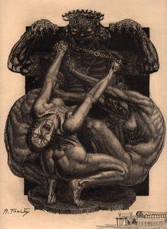 "Illustration for Octave Mirbeau's ""The Torture Garden,"" by Raphaël Freida (1927)"