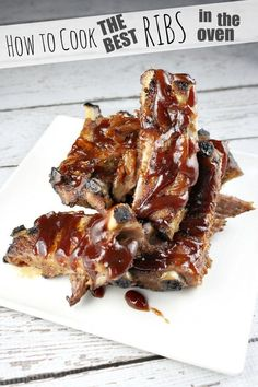 How to Cook the Best Ribs in the Oven recipe - RecipeGirl.com
