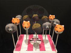 Woodland theme Cake Pops  Cakepops raccoon Cake Pops fox Cake Pops acorn Cake Pops