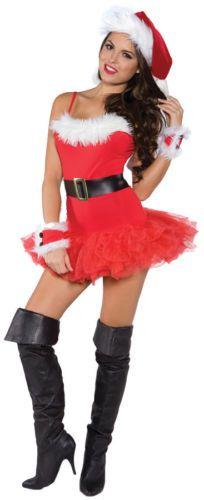 9d5002fad1da2 Adult Women Santa Costume Adult Mrs Miss Claus Sexy Outfit Christmas Fancy  Dress 666092069884 | eBay