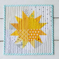 """""""You Are My Sunshine"""" mini quilt"""
