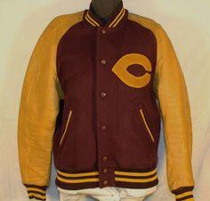 Vintage Men's Varsity Letter Jacket, Concordia University, 1950's by ilovevintagestuff on Etsy: