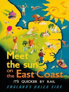 TRAVEL-EAST-COAST-ENGLAND-ANGLIA-SUN-SEA-SPORT-UK-RAIL-ART-PRINT-POSTER-BB8421B