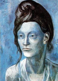 La femme au casque de cheveux Picasso peint un nouveau type de femme Profil fin, aigu, sévère avec un regard sombre et droit et des yeux bien dessinés La finesse des traits, l'intensité du regard sont mis en valeur par la masse des cheveux remontés au-dessus de la tête en forme de casque Elle a l'audace provocante d'une Marianne Le modèle est Madeleine qui occupa les pensées (et un peu plus) de Picasso au début de 1904 ; Fernande pris le relais. Elle est la première femme qui soit vraiment…