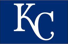 Kansas City Royals Cap Logo (2002) - KC in white on blue background