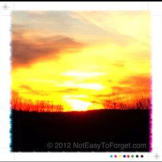 Nuclear Sunset - Scenic overlook Jasper,GA