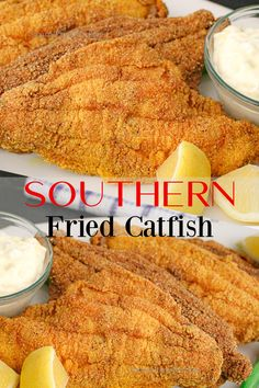 Southern Catfish Recipe, Southern Fried Catfish, Fried Catfish Recipes, Grilled Catfish, Fish Dinner, Seafood Dinner, Best Seafood Recipes, Salmon Recipes, How To Cook Catfish