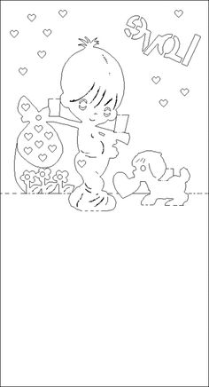 Plantillas para tarjetas pop-up de San Valentín.