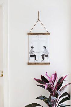 DIY Poster Hanger  - A Beautiful Mess