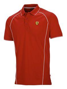 Koszulka Polo Ferrari Track Polo - Red CZERWONY   FERRARI MEN \ POLO   Fbutik   Scuderia Ferrari Collection