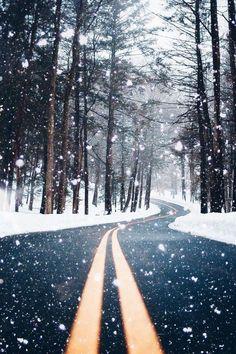 Beautiful snow falling