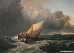Bateaux hollandais dans une tempête JMW Turner