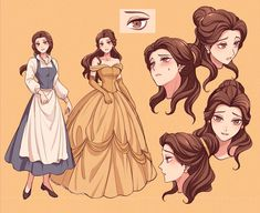 Disney Princess Art, Disney Art, Disney Pixar, Chibi Disney, Disney Characters, Disney Princesses, Disney Love, Disney Belle, Disney Stuff