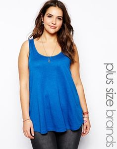 Image 1 of New Look Inspire Scoop Neck Swing Tank