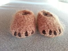 Ravelry: Big Foot Baby Booties pattern by Karly McCrory