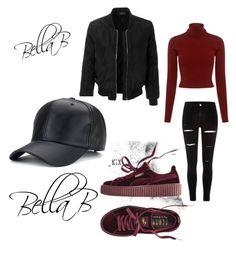 """""""Chilled vibe ✨♡"""" by banbangotit on Polyvore featuring A.L.C., River Island, LE3NO and Puma"""