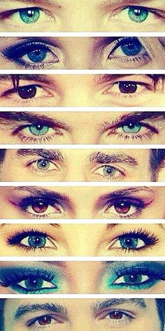 The Vampire Diaries - is it bad that I could tell what show they were from and whose eyes were whose without reading the original description 'The Vampire Diaries'?! X