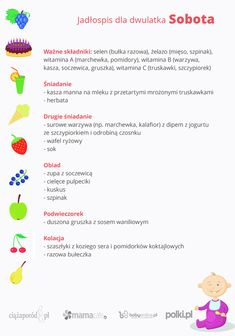 jadłospis dla dzieci, jadłospis rocznego dziecka, jadłospis dla dwulatka, dieta dziecka, karmienie dziecka Baby Food Recipes, Healthy Recipes, Healthy Food, Kids Menu, Cooking With Kids, Kids And Parenting, Food And Drink, Meals, Child