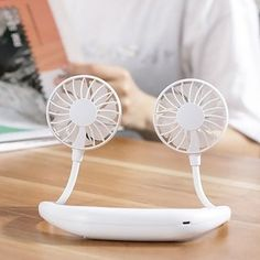 Shop for Portable Sports Fan USB Charging Handheld Neckband Fan Mini Double Fans 3 Speed Adjustable Wearable. Get free delivery On EVERYTHING* Overstock - Your Online Housewares Shop! Portable Fan, Portable Charger, Personal Fan, Small Fan, Perfect Angle, Power Button, Keep Cool, Hot Flashes, Cool Stuff
