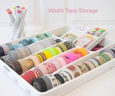 Seriously brilliant washi tape storage idea!