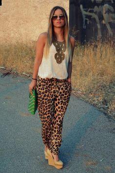 leopard pants zara