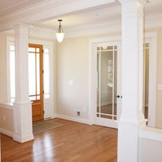 Half Walls With Columns Design Ideas Pictures Remodel And Decor Christina Black Dining Room Off Entryway