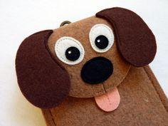 Dog felt gadget case (ipod, cell phone, camera)