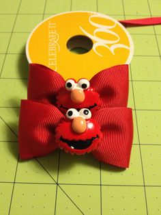 Elmo Hair Bows by Lilysbowsandsuch on Etsy, $3.50