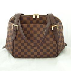 An all-time favourite: elegant Louis Vuitton Damier Ebène Belem Handbag is classic and timeless!