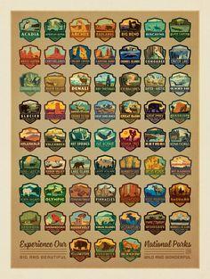 Anderson Design Group – American National Parks – 59 National Park Emblems