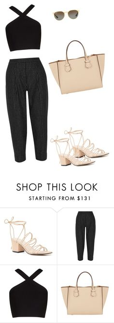 """""""Soho st. Shop"""" by marta-isabella ❤ liked on Polyvore featuring Witchery, DKNY, BCBGMAXAZRIA, Moreau and Ray-Ban"""