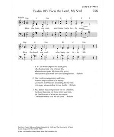 Bless the Lord, my Soul - Hymnary.org