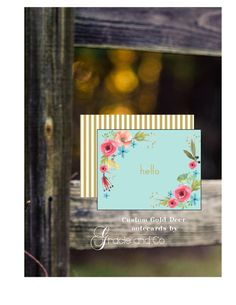 Custom personalized  notecard friendship birthday by gracieandco