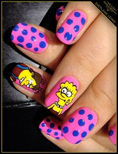 Simpsons by Blackout - Nail Art Gallery - http://yournailart.com/simpsons-by-blackout-nail-art-gallery/ - #nails #nail_art #nails_design #nail_ ideas #nail_polish #ideas #beauty #cute #love