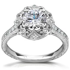 @Overstock - Annello 14k White Gold 1 1/5ct TDW Round-cut Diamond Antique Engagement Ring (H-I, I1-I2) - Antique-style diamond engagement ring14-karat gold bridal jewelry Click here for ring sizing guide  http://www.overstock.com/Jewelry-Watches/Annello-14k-White-Gold-1-1-5ct-TDW-Round-cut-Diamond-Antique-Engagement-Ring-H-I-I1-I2/9056005/product.html?CID=214117 $4,229.99