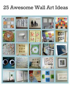 25 Awesome Wall Art Ideas | Home and Garden | CraftGossip.com