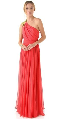 One Shoulder Dress with Knotted Cord