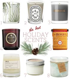 The 8 Best Holiday Candles via Cupcakes & Cashmere