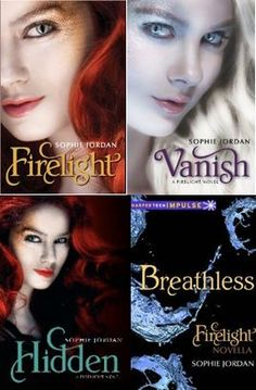 Firelight series by Sophie Jordan  Short books but I enjoyed them anyway ! Didn't read the fourth one though .