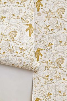 victorian circus wallpaper: from anthropologie