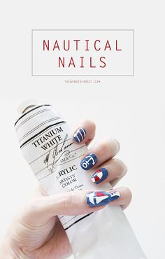 Nautical Nails and Creating Fine Details | Wonder Forest: Design Your Life.
