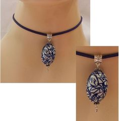 Silver & Blue Pendant Choker Necklace Handmade Adjustable new Accessories #Handmade #Choker http://www.ebay.com/itm/Silver-Blue-Pendant-Choker-Necklace-Handmade-Adjustable-new-Accessories-/152171303759?ssPageName=STRK:MESE:IT