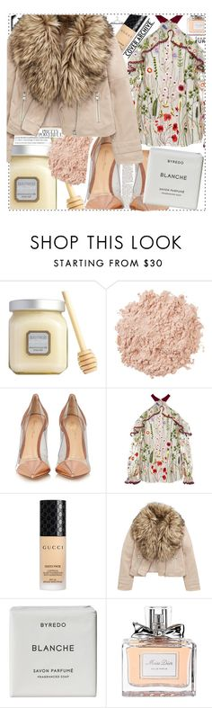 """""""Jardin des Tuileries"""" by clairabel16 ❤ liked on Polyvore featuring Laura Mercier, La Mer, Gianvito Rossi, Alexis, Gucci, Byredo and Christian Dior"""