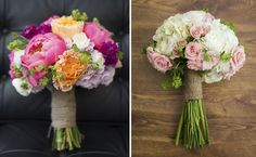 Roses and Peonies--wedding flowers