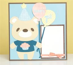 Project Center - Baby's First Birthday Bear Layout