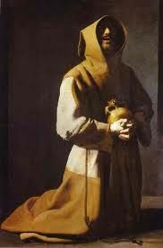 Saint Francis in Meditation by Francisco de Zurbaran Francisco de Zubarán was a Spanish painter whose painting genre was that of religious works depicting monks, nuns, saints and martyrs. He was also a popular still-life painter. He was an artist w. Caravaggio, Francis Of Assisi, St Francis, Religious Paintings, Religious Art, Francisco Zurbaran, Art Du Temps, National Gallery, Art Ancien