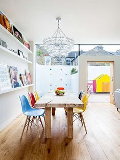 classically colorful eames chairs